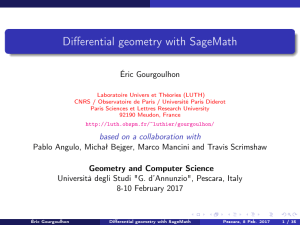 Differential geometry with SageMath