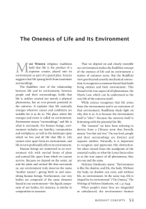 The Oneness of Life and Its Environment - Sgi-Usa