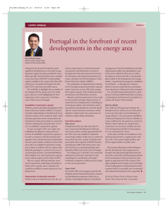 Portugal in the forefront of recent developments in the energy area