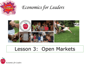 Lecture 3: Open Markets