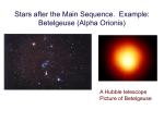 Stellar life after the Main Sequence (cont.)