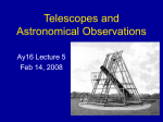 Telescopes and Astronomical Observations