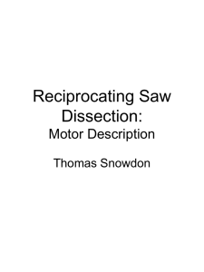 Reciprocating Saw Dissection: Motor Description