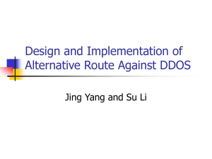 Design and Implementation of Alternative Route Against DDOS