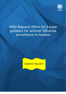 WHO Regional Office for Europe guidance for sentinel influenza