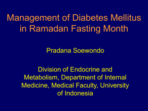 Management of DM in Ramadan Fasting Month