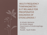 Is Multi Frequency test reliable in the detection of Otosclerosis