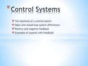 Control Systems Elements of a control system