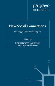 New Social Connections: Sociology`s Subjects