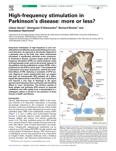 High-frequency stimulation in Parkinson`s disease: more