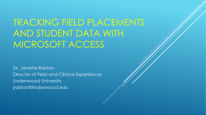Tracking Field Placements and Student Data with Microsoft