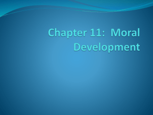 Moral Development - Gordon State College