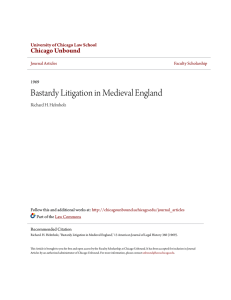 Bastardy Litigation in Medieval England