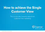 How to achieve the Single Customer View