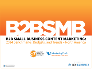 B2B Small Business Content Marketing: 2014