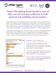 Email is the leading direct channel in terms of daily