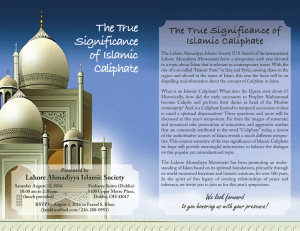 The True Significance of Islamic Caliphate