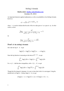 Proof of the stirling`s formula