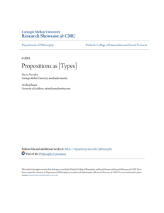Propositions as [Types] - Research Showcase @ CMU
