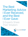The Best Marketing Advice I Ever Received, and the Best
