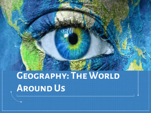 Geography: The World Around Us