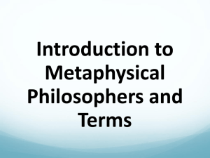 Introduction to Metaphysical Terms