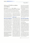 Safe use of NSAIDs in infants and children