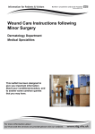 Wound Care Instructions following Minor Surgery