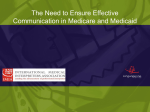 The Need to Ensure Effective Communication in Medicare
