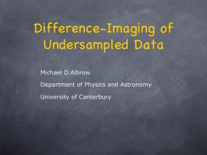 Difference-Imaging of Undersampled Data - IPAC