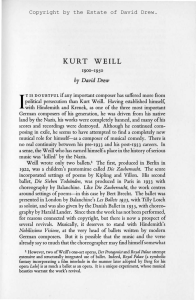 full text - Kurt Weill Foundation