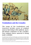 Troubadours and the Crusades