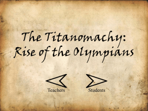 The Titanomachy: Rise of the Olympians