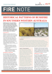 historical patterns of bushfire in southern western