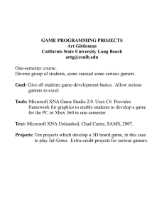 Game Programming Projects - California State University, Long Beach
