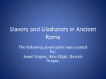 Slavery and Gladiators in Ancient Rome