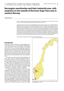 Norwegian anorthosites and their industrial uses, with emphasis on