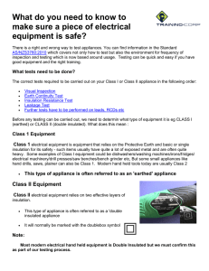 How do you Need to Know for electrical equipment is safe