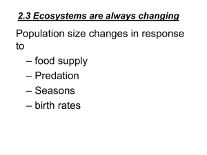 2.3 Ecosystems are always changing
