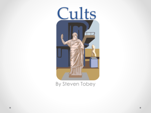 Cults - Stratford High School