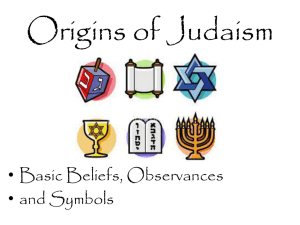 Judaism PowerPoint - Geography For Life