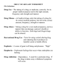 drug vocabulary worksheet