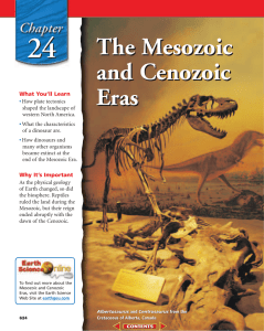 Chapter 24: The Mesozoic and Cenozoic Eras
