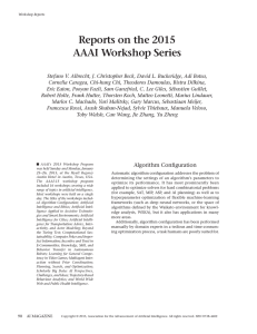 Reports on the 2015 AAAI Workshop Series