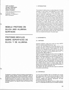 mobile protons on silica and alumina surfaces protones moviles