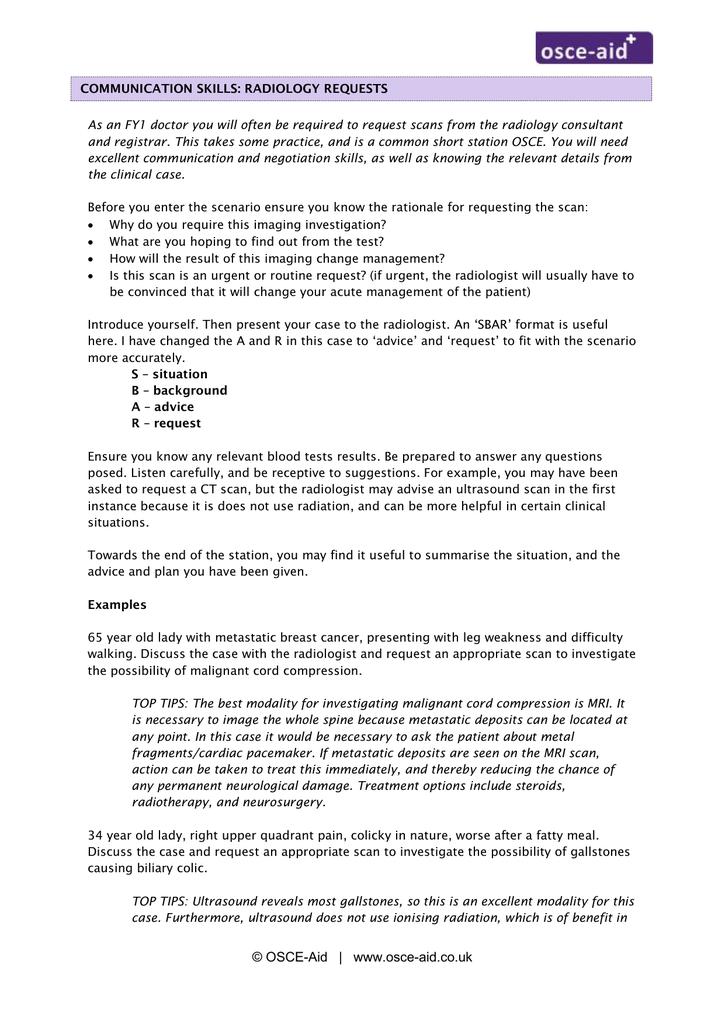 osce_radiologyrequests - OSCE-Aid
