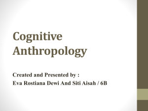 Eva Rostiana Dewi And Siti Aisah / 6B Cognitive anthropology