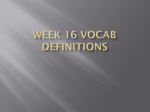 Week 16 Vocab