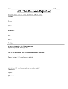 8:1 The Roman Republic