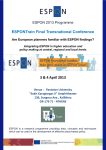 ESPONTrain Final Transnational Conference Are European